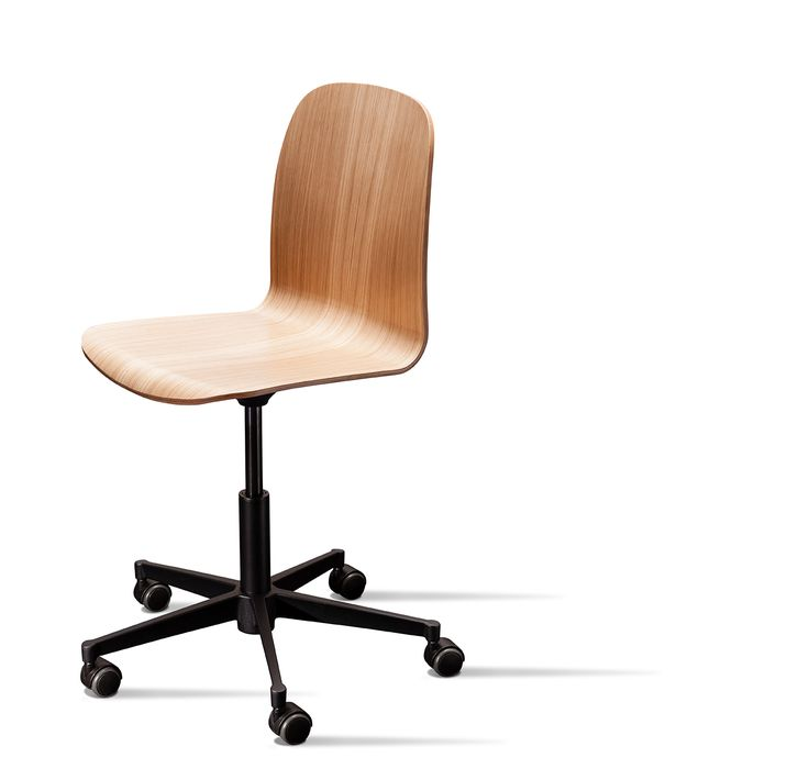 With a swivel base, the Boston chair is an exclusive office chair with built in tilt-function. It is available with or without armrests. The height adjustable swivel base comes in black and aluminum #danerka #designerfurniture #danishdesign Design by Erik Jørgensen 2014