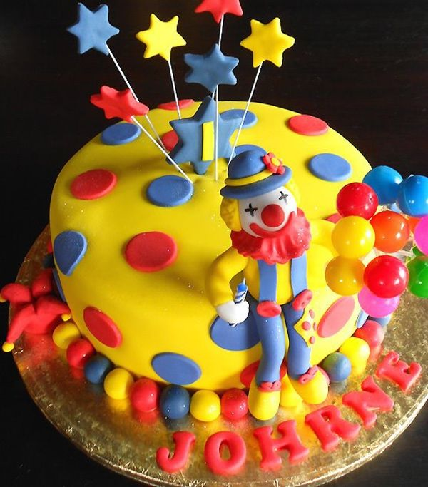 28 Best Clown Cakes Images On Pinterest Cold Porcelain Clown Cake