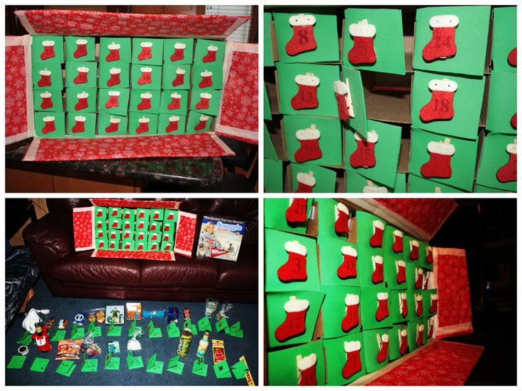 Diy Wine Advent Calendar : Diy advent calendar i made for my boyfriend last christmas