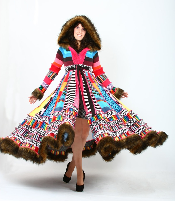 Dryad Dream Coat - A Fairy Inspired Creation - I like these and am thinking of getting one; just not in such vivid colors. Any opinions?    #women's fashion