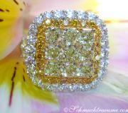 Exklusiver gelbe Diamanten Ring mit Brillanten image