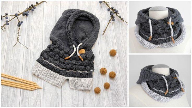 **Du liebst Hoodies? ...hier gibt es den passenden Schal für den Winter … ** Dieser wunderschöne Kapuzen-Schal ist nicht nur ein Hingucker, sondern auch ruckzuck und mit großem Spaßfaktor gestrickt. Sehr praktische, abnehmbare Kapuze. S