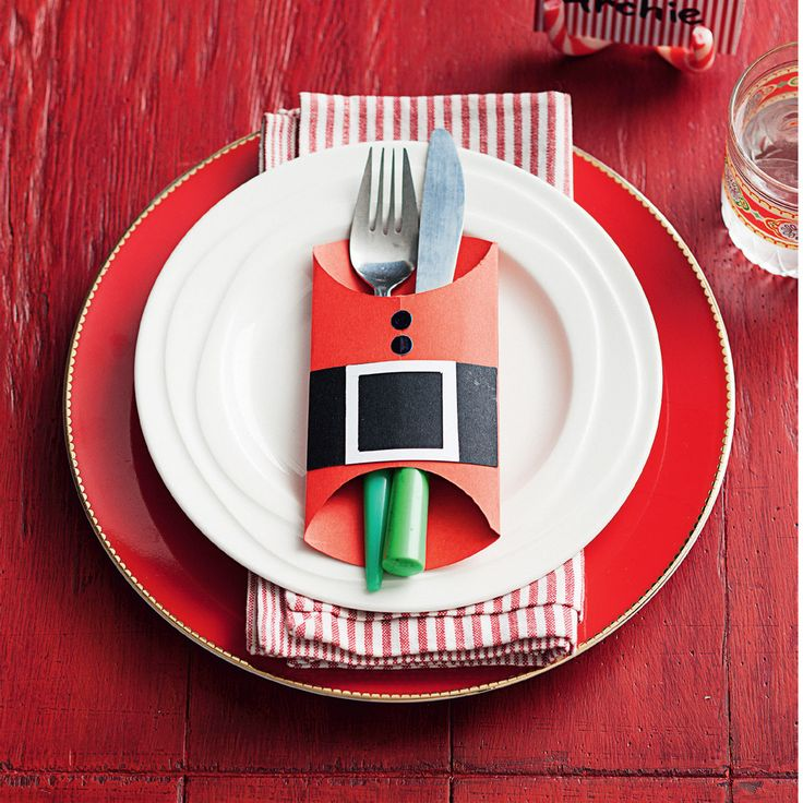 Arrange knives and forks in a Santa suit cutlery holders! #Woolworths #Christmas #Inspiration #Decoration #Santa