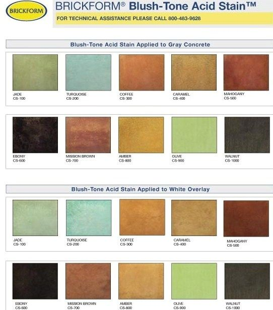 Concrete Stain Colors | ... nice medium tan color can be made from diluting the ebony stain above