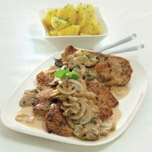 fr.WeightWatchers.be: recette Weight Watchers - Escalope à la sauce chasseur