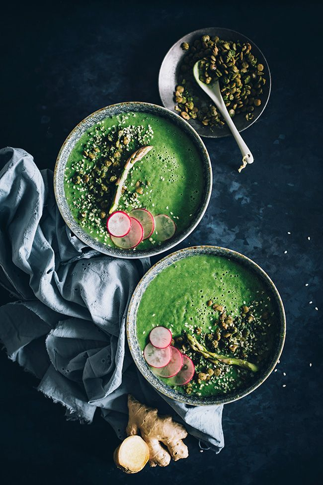 Miso Soup with Wasabi Roasted Lentils | The Awesome Green