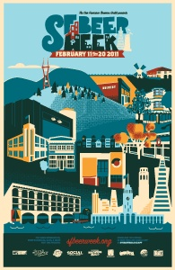 "SF Beer Week poster - ""San Francisco"""