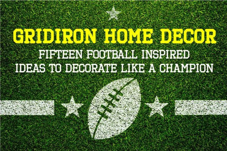Ahhh, being married to a football super-fan isn't always easy but decorating a home with one doesn't mean disaster. Here's 15 football-inspired home decor ideas that we collected for our friends at EBay #AD