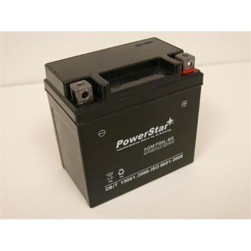 PowerStar PS5L-BS-026 Husaberg Motorcycle 2002-2001 All Models Replacement Motorcycle Battery, As Shown