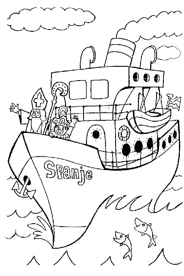 sinterklaas coloring pages - photo#48