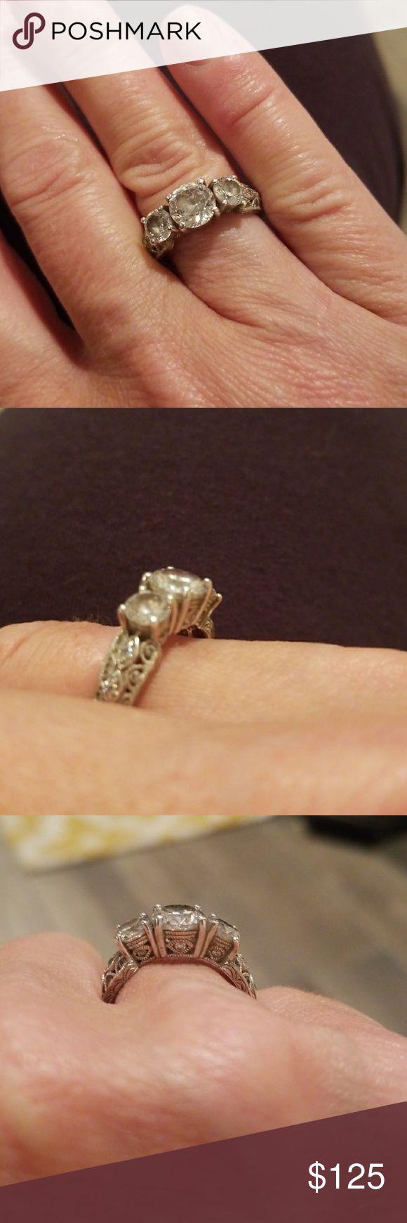Tacori Sterling silver cz ring Gorgeous Tacori Jewelry Rings