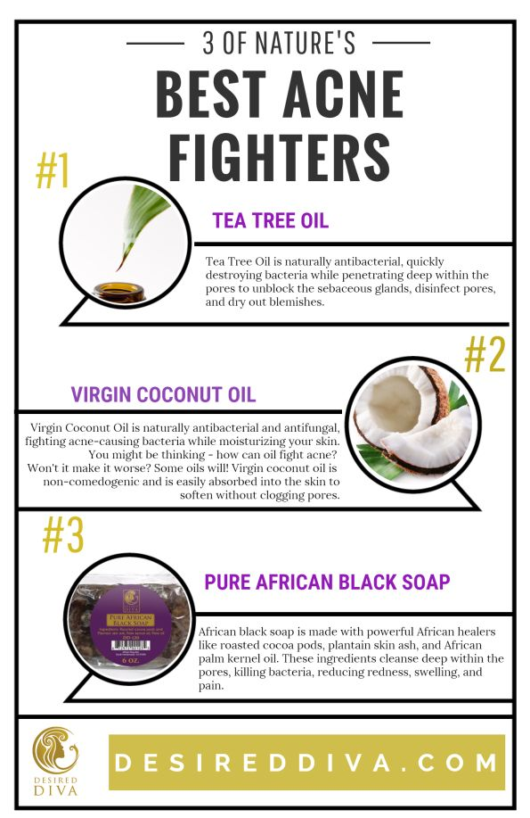 Acne NEW Infographic! 3 Of Natures Best Acne Fighters - Desired Diva