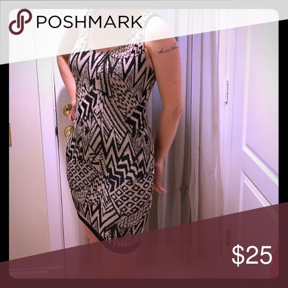 animal print body con dress Animal print body con dress. It's actually a pretty thick fabric. Worn out only once! GUESS Dresses Mini