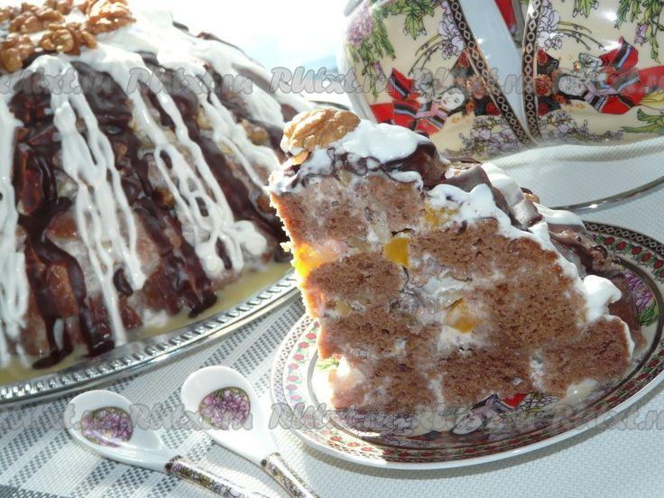 Рецепт домашнего торта полено