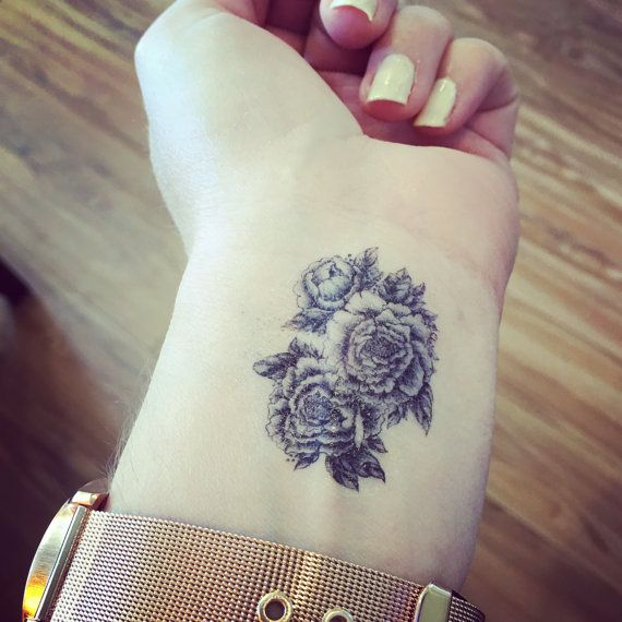 Tatouage temporaire Floral pivoine Tattoo par SymbolicImports