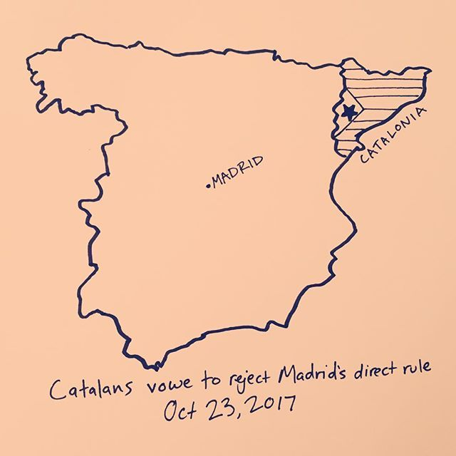 Catalans vow to reject proposed direct rule from Madrid, Oct 23, 2017 . . . . . . . . #catalan #catalonia #catalunya #cataloniaisnotspain #spain #españa #madrid #fcbarcelona #news #viscacatalunya #cnn #breakingnews #noticias #luchar #sisepuede #global #newyorkmapco #art #artist #drawing #drawing #info #infographic #visualsoflife #visual