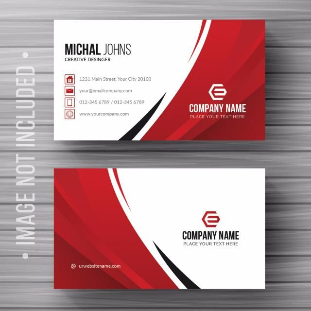 White Business Card With Details Business Card Template Word Business Card Template Psd Business Card Templates Download