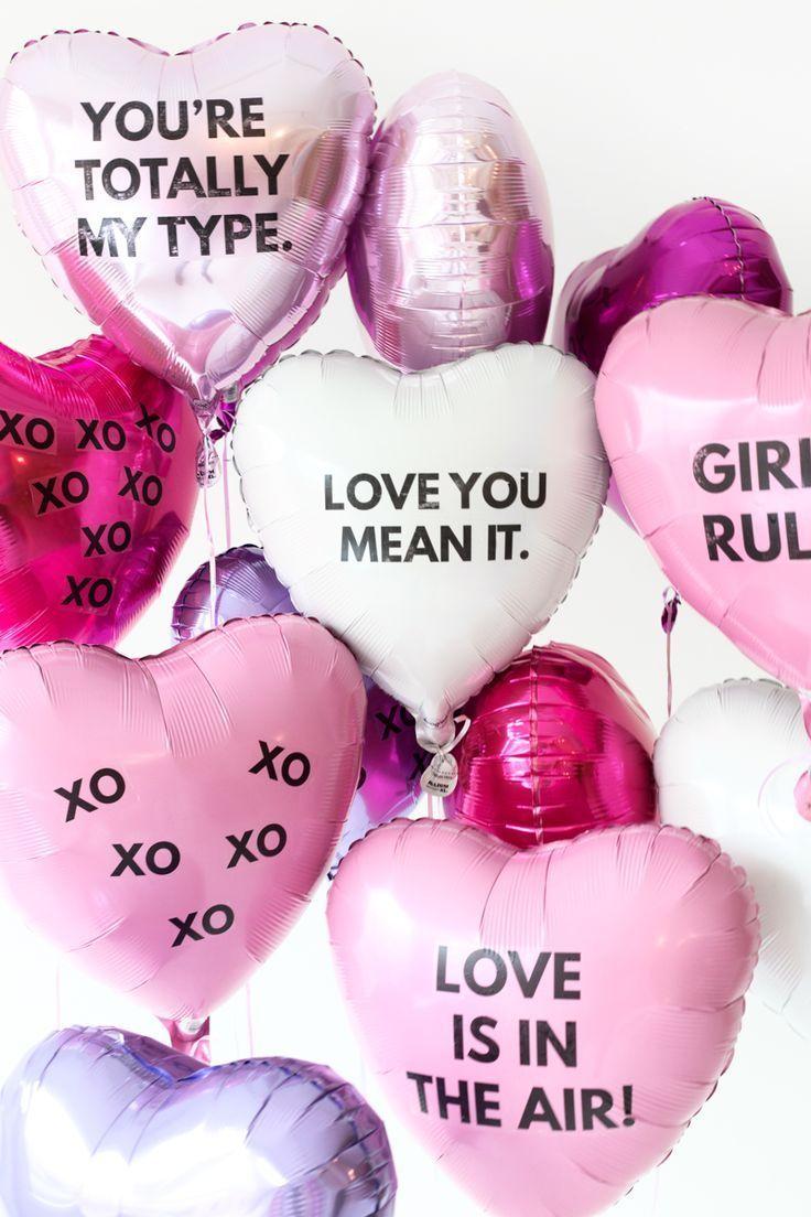 Außergewöhnlich DIY Galentineu0027s Day Balloon Tattoos. JahrestagVerschenkenValentinstag RomantikBlumenValentinstags PartySei ...