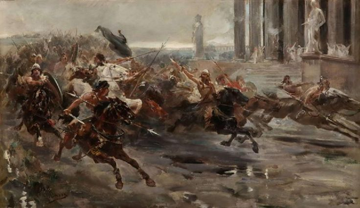 La invasión de los bárbaros o Atila en Roma, de Ulpiano Checa.