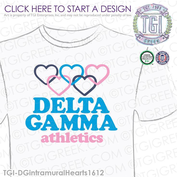 Delta Gamma | DG | ΔΓ | Intramural | Sorority Intramural Shirt | Delta Gamma Athletics | TGI Greek | Greek Apparel | Custom Apparel | Sorority Tee Shirts | Sorority Tanks | Sorority T-shirts
