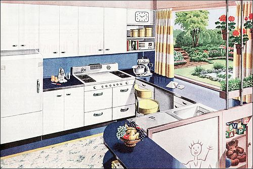 1945 American Gas Association Kitchen by American Vintage Home, via Flickr