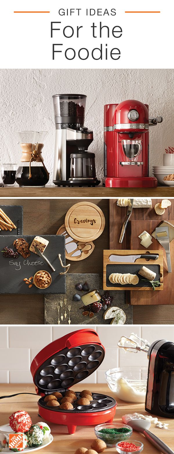 Start checking off names on your gift list by finding the perfect presents for those you love most. For the foodie on your list, shop specialty appliances and more, all at The Home Depot. Click to shop these products and get more gift ideas.