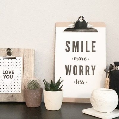 Smile more, worry less! #happy #quote