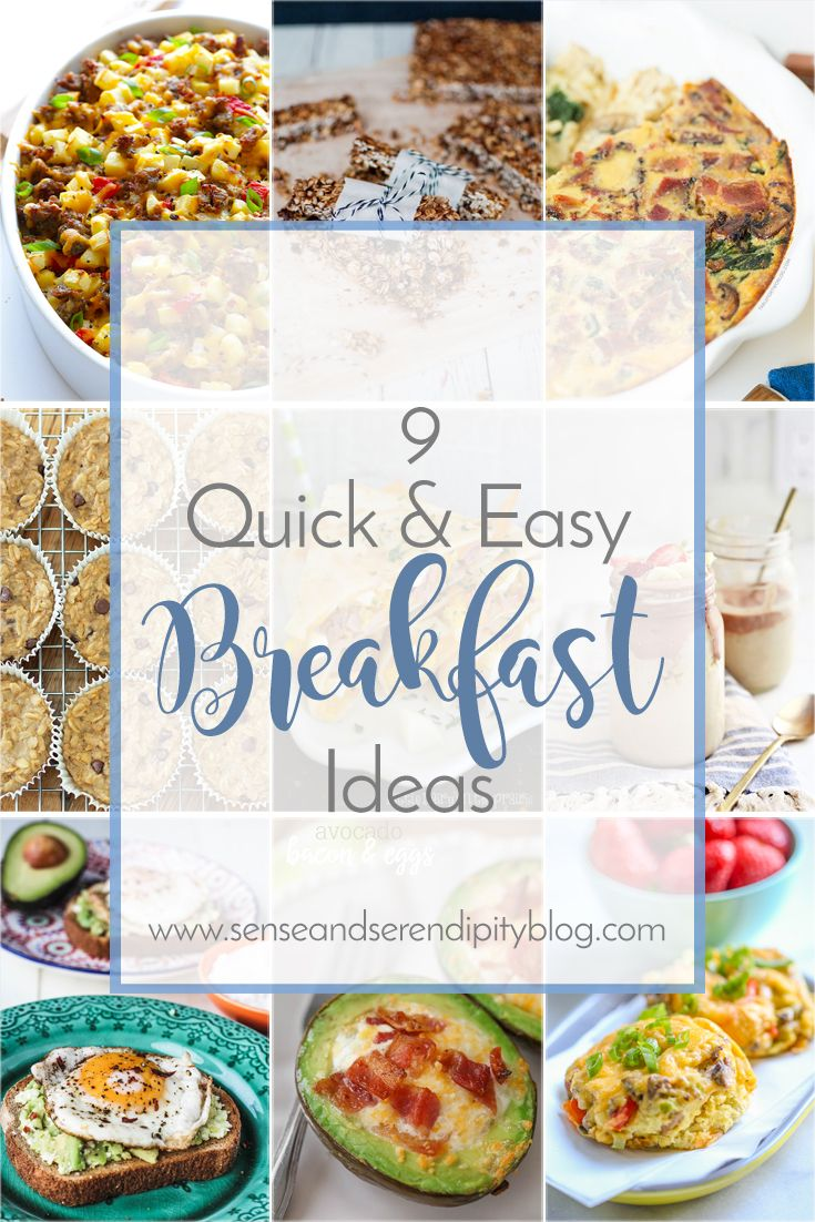 Here's a round-up of some of my favorite quick and easy breakfast ideas. Not only are these recipes easy, they are delicious and healthy!