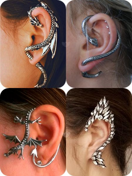 Cuff Earrings... Last one is a little much, but the snakes are awesome!