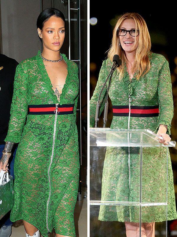 Rihanna Julia Roberts Gucci Dress
