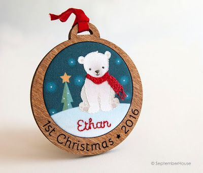 122 best Christmas  Ornaments  Babys First images on Pinterest