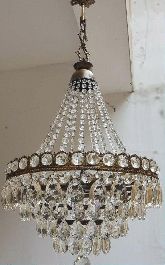 Antike Vintage Brass Amp Kristalle Franzosische Riesigen Kronleuchter Deckenleuchte Pendelleuchte Beleuchtung In 2020 Kronleuchter Kronleuchter Antik Pendelleuchte