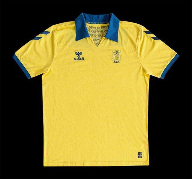 Camisa retrô dos 50 anos do Brøndby IF Hummel