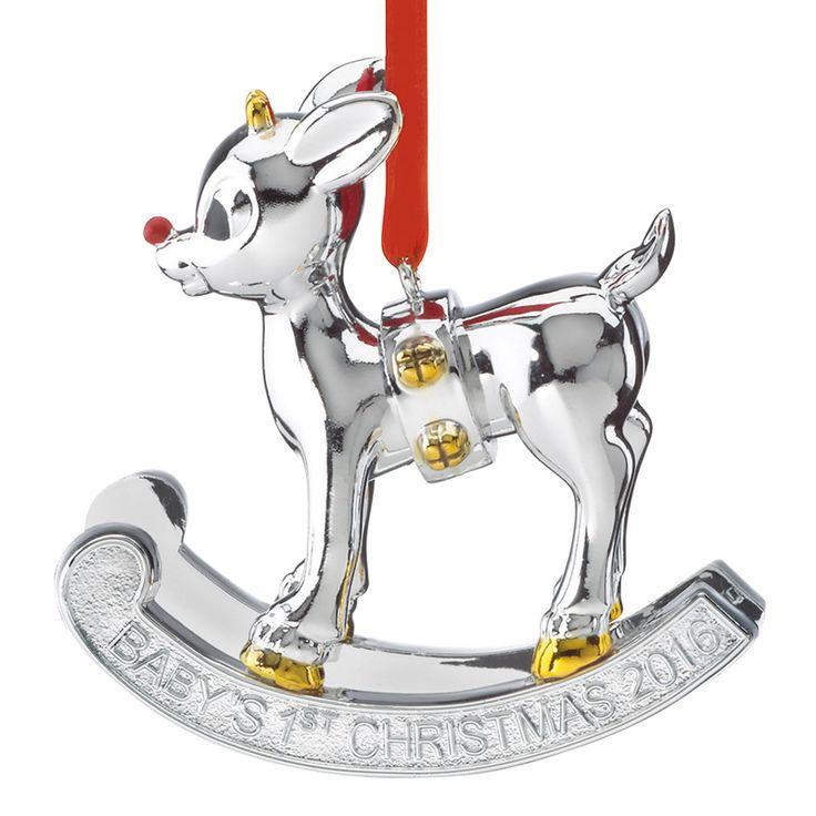 2016 Rudolph Baby's First Christmas   Lenox Christmas Ornament