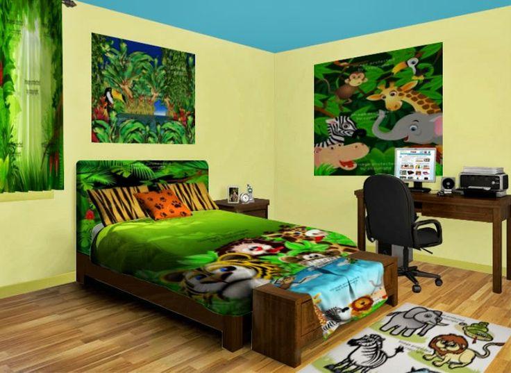 114 best safari girl or boys room images on pinterest for Animal bedroom ideas