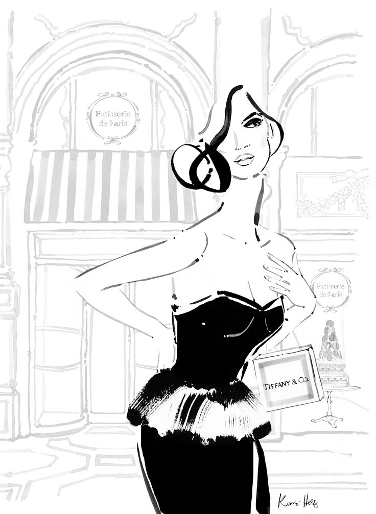 Le Style Paris et New York edition magazine cover illustrated by fashion illustrator Kerrie Hess. www.lestyle.org
