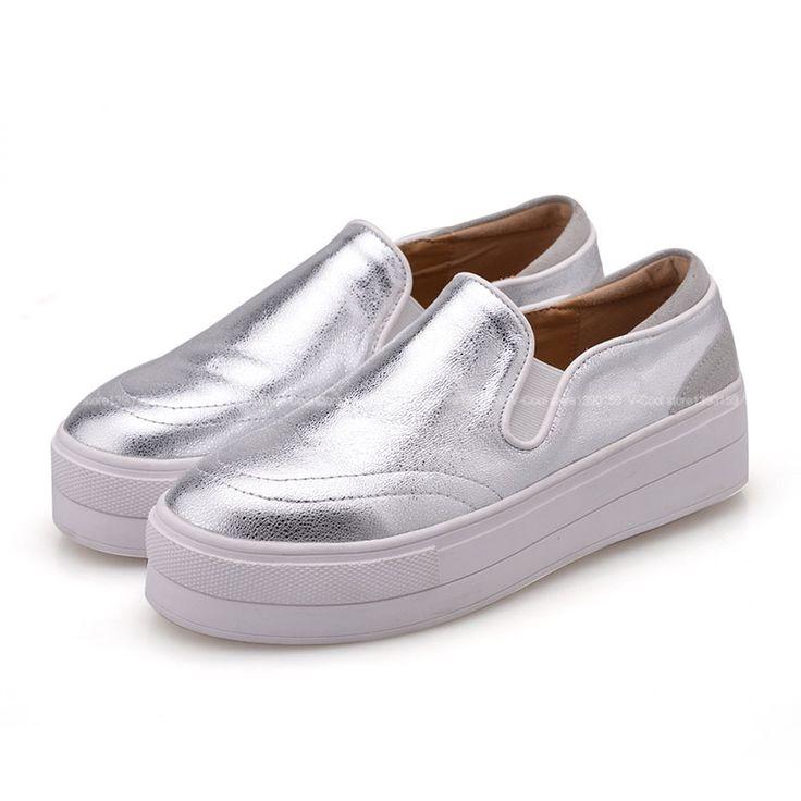 2015 новые женщин высокое качество лианы осень плоские туфли на платформе женщина из натуральной кожи скольжения туфли loafers женский мягкая обувь купить на AliExpress