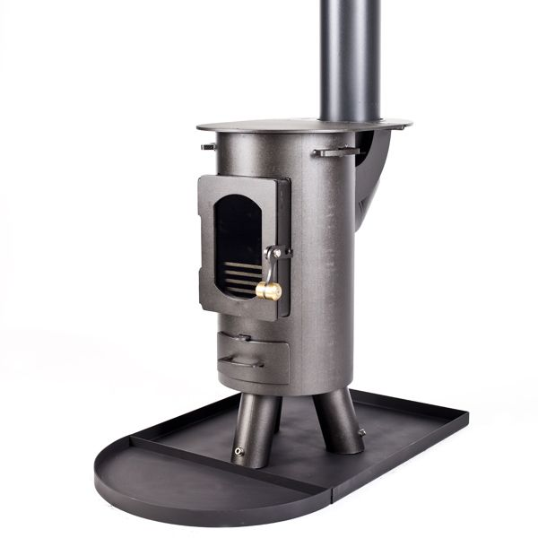 Anthracite Traveller Stove BUNDLE with FREE Flues and Spark Arrestor + FREE Eco Fuel Starter Kit (Retail Only)
