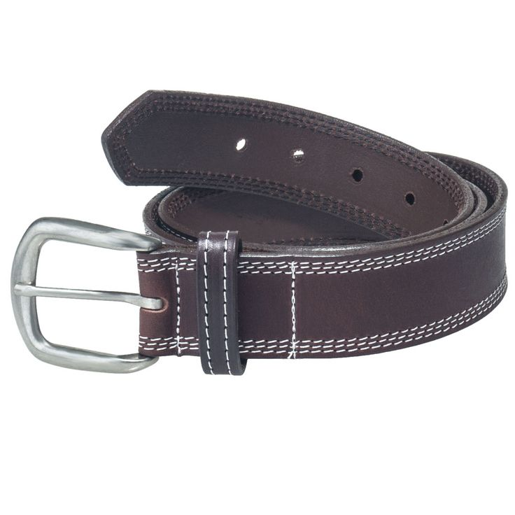 Working Persons Store Men's Brown Leather Work Belt 18272