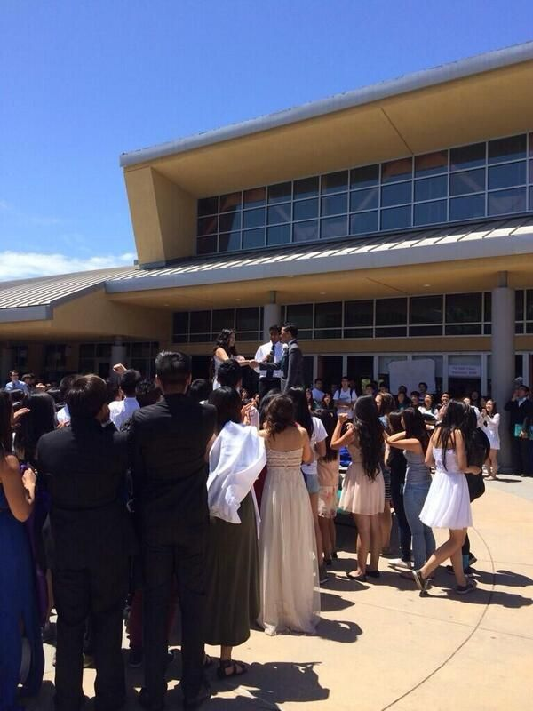 The 23 Best High School Senior Pranks Of 2014 - the seniors who staged a wedding