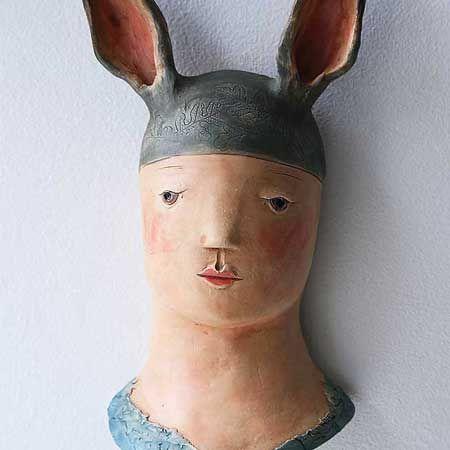 Hare Boy wall sculpture