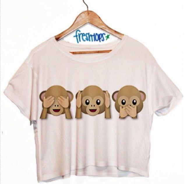 Monkey emoji shirt for girls