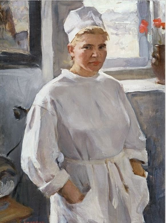 Ломакин Олег Леонидович ( 1924 - 2010) «Медсестра» 1970