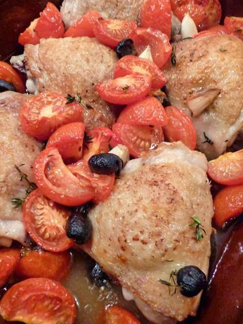 NOVEMBER Lancashire Food: Baked chicken with tomatoes and olives for Nigel Slater Dish of the Month