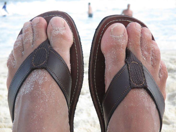 Nico! Men's #Handmade #Brazilian Cow Leather, Flip Flops £25 in Dark Chocolate Brown