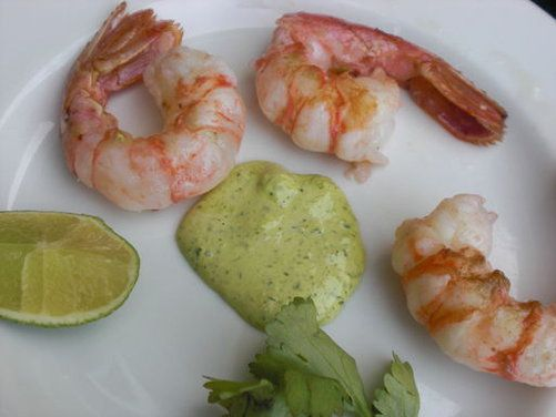 """Last of the Season """"Grilled"""" Spot Prawns with Garlic Scape, Cilantr..."""