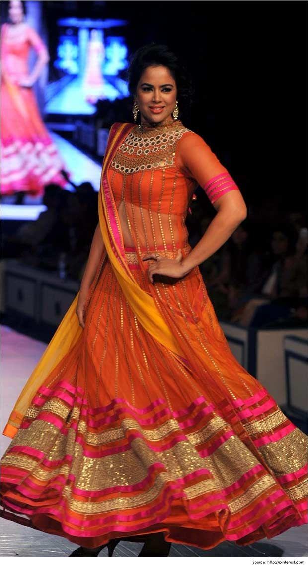 Lehenga blouse designs by Sameera-reddy