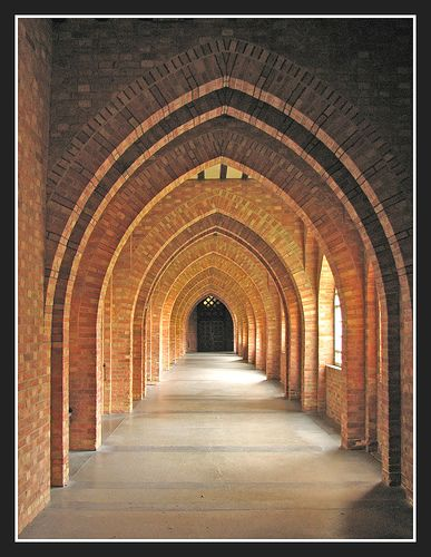 Quarr Abbey cloister, Isle of Wight