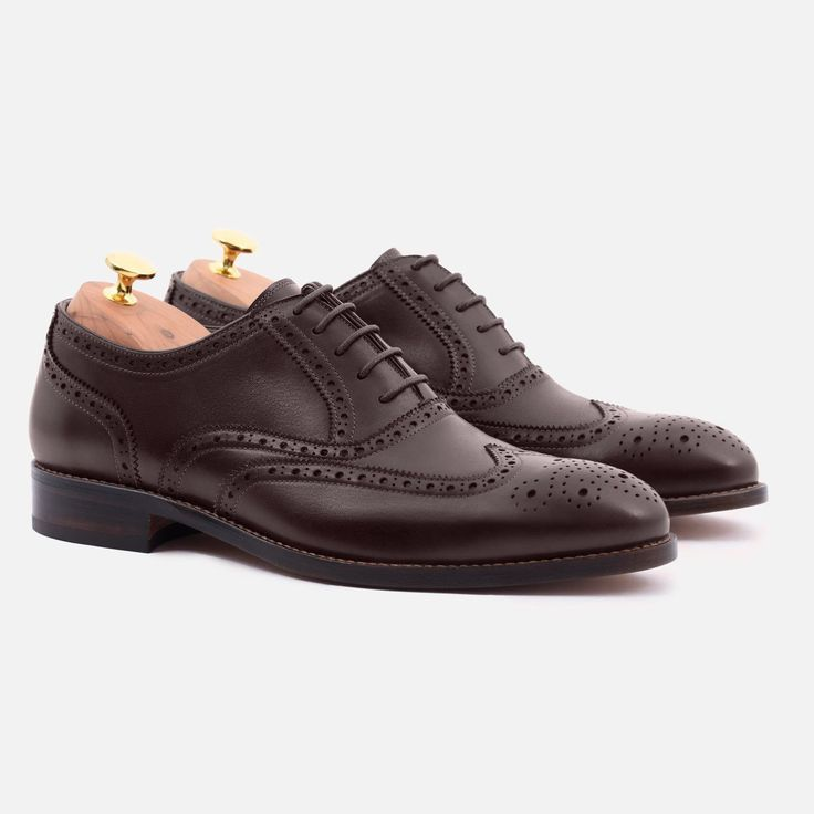 Yates Oxford Brogues - Calfskin Leather - Brown