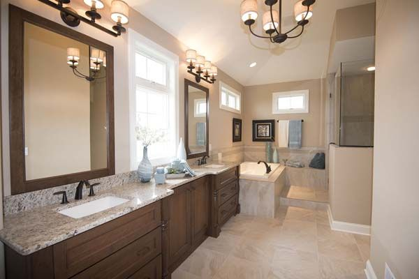 The Master Bath Is Roomy Luxurious And Filled With Natural Light